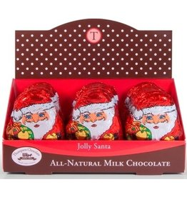anDea Chocolates Milk Chocolate Santa, 2oz