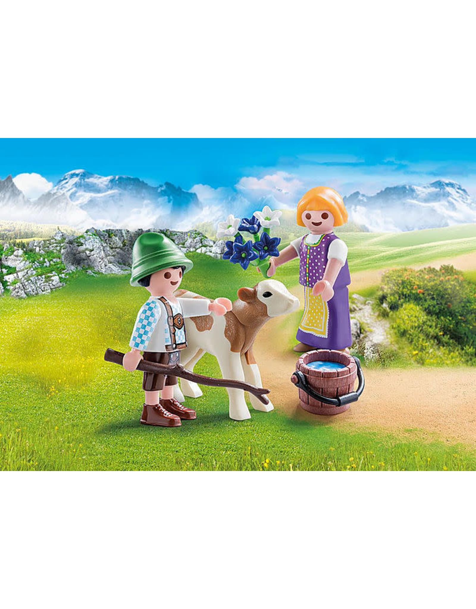 Playmobil Children with Calf