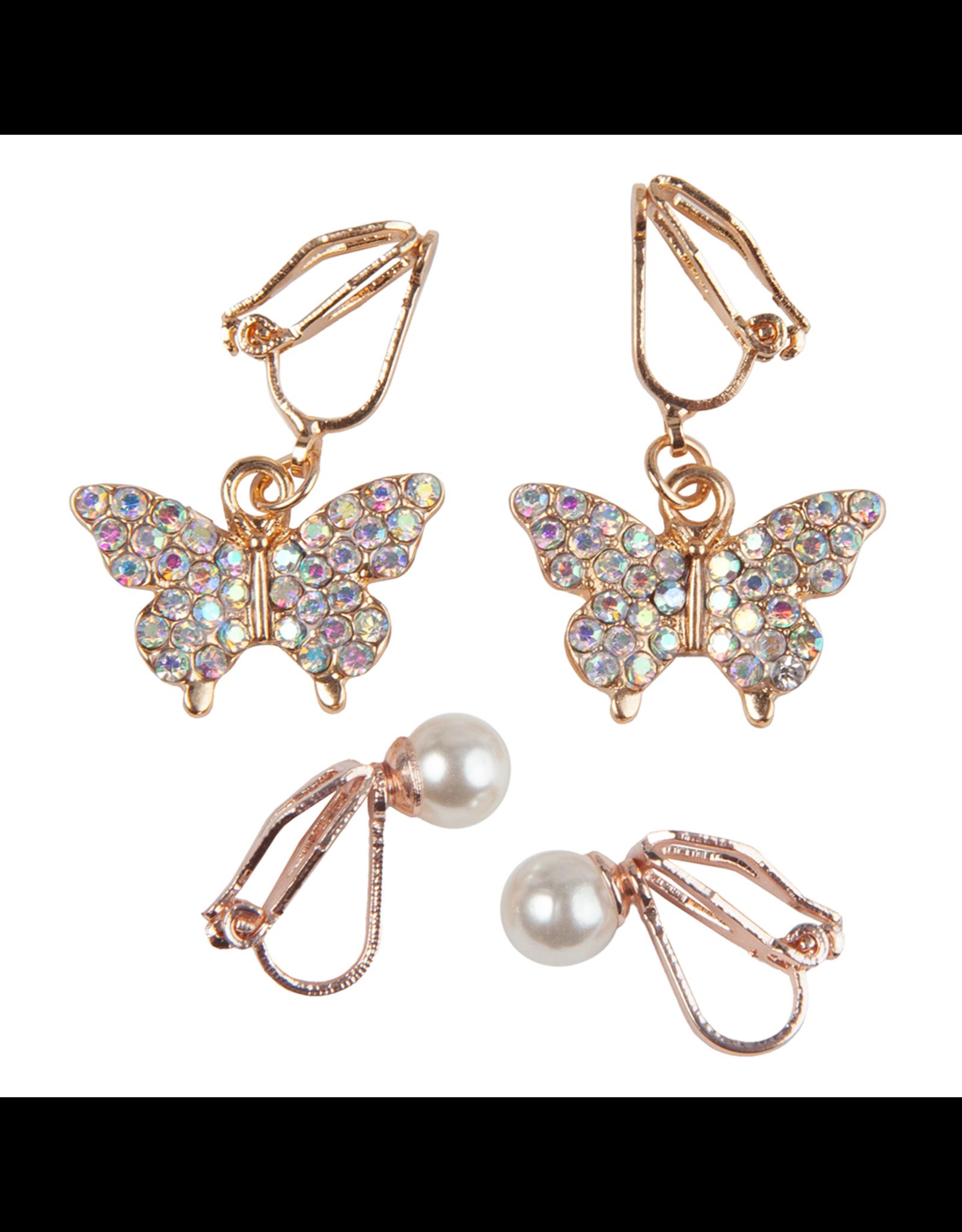 Great Pretenders Boutique Butterfly Clip On Earrings