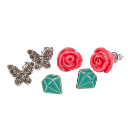 Great Pretenders Boutique Rose Studded Earrings