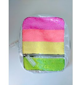 Fashion Angels Magic Sequin Micro-Mini Backpack, Neon Stripe