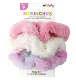 Iscream Faux Fur Scrunchie Set