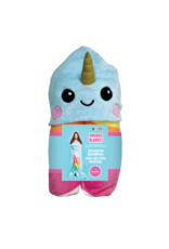 Iscream Rainbow Narwhal Hooded Blanket