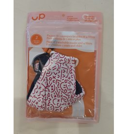 Up Gear Face Masks, Pink/Navy, 2 pack & 4 filters