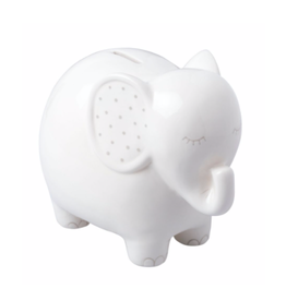 Pearhead Ceramic Elephant Piggy Bank