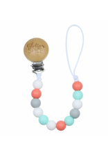 Glitter and Spice Pacifier Clip Skyler