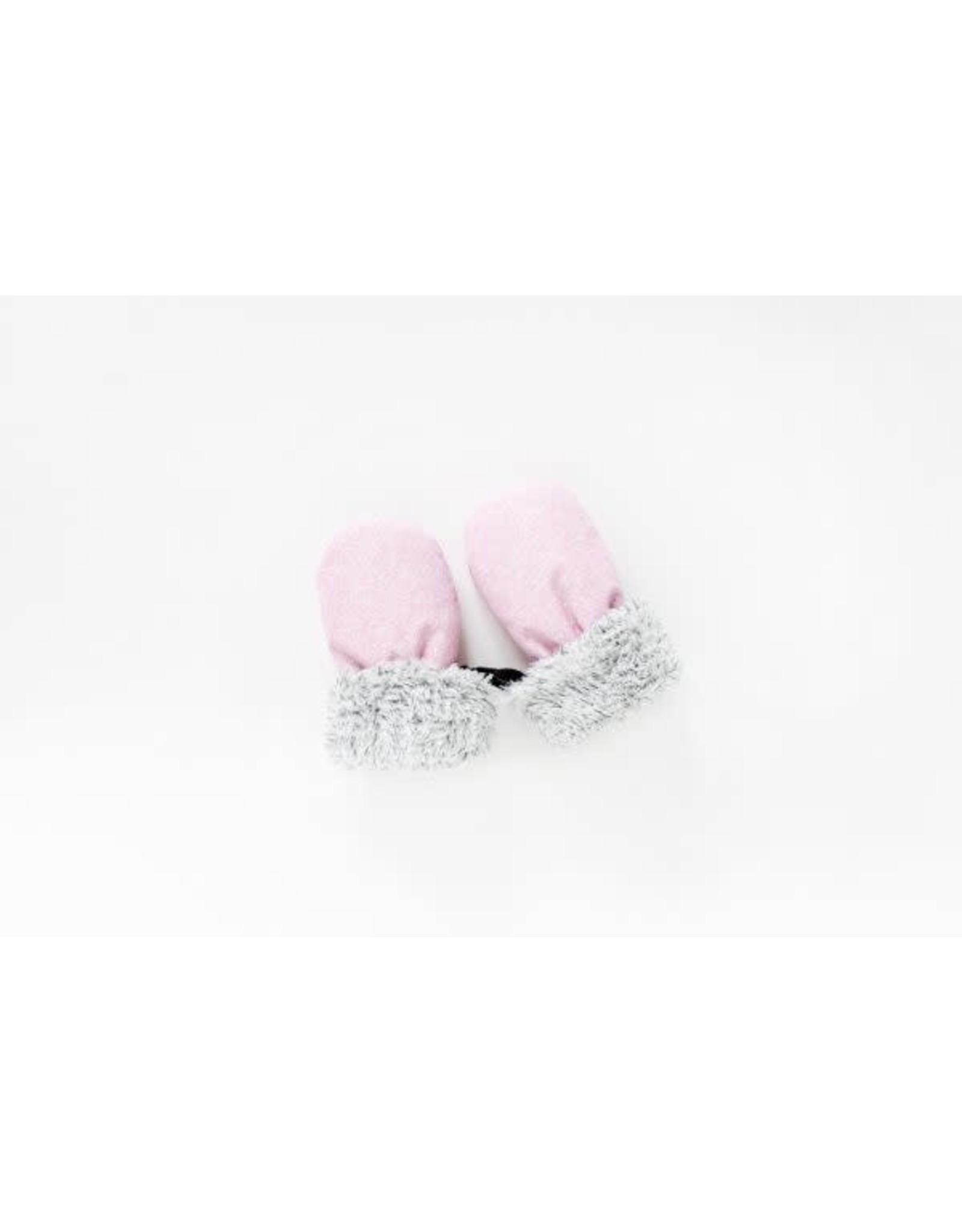 Juddlies Juddlies Winter Mitts Salt & Pepper Pink 6-12M