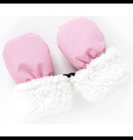 Juddlies Juddlies Winter Mitts Herringbone Pink 6-12M