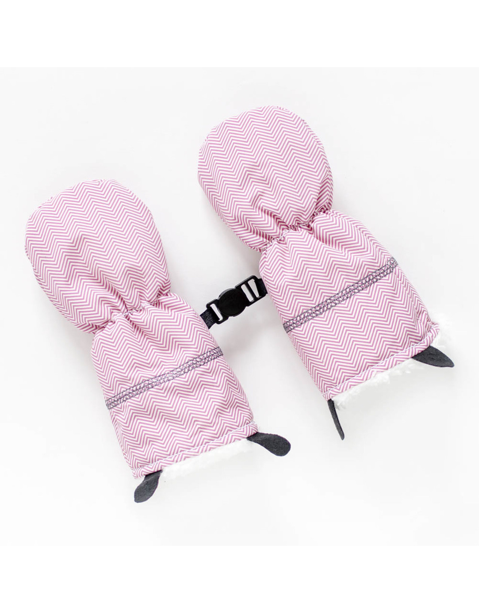 Juddlies Juddlies Winter Mitts Herringbone Pink 0-6M