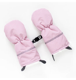 Juddlies Juddlies Winter Mitts Herringbone Pink 0-6M