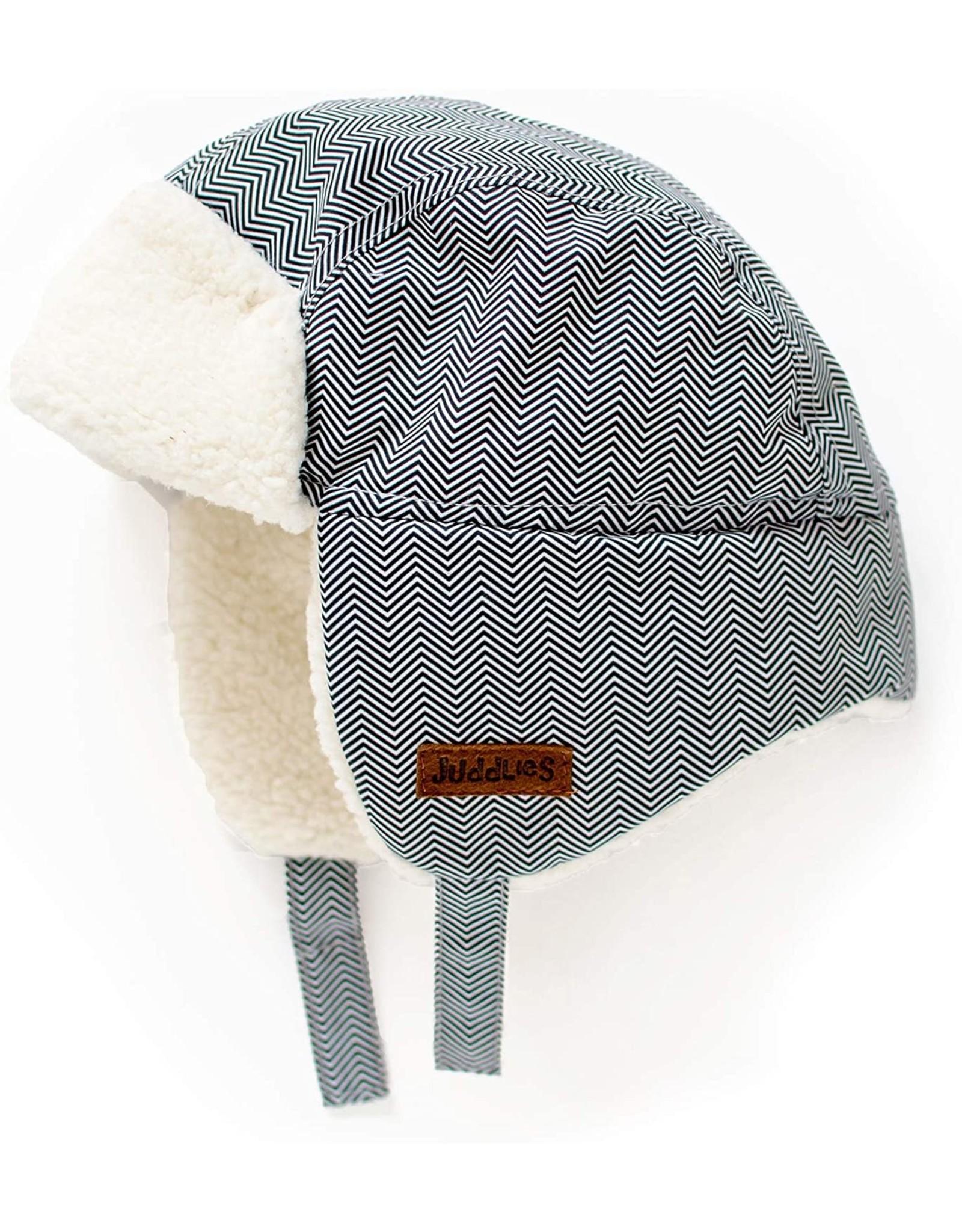 Juddlies Juddlies Winter Hat Herringbone Grey 6-12M