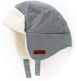 Juddlies Juddlies Winter Hat Herringbone Grey 6-12M