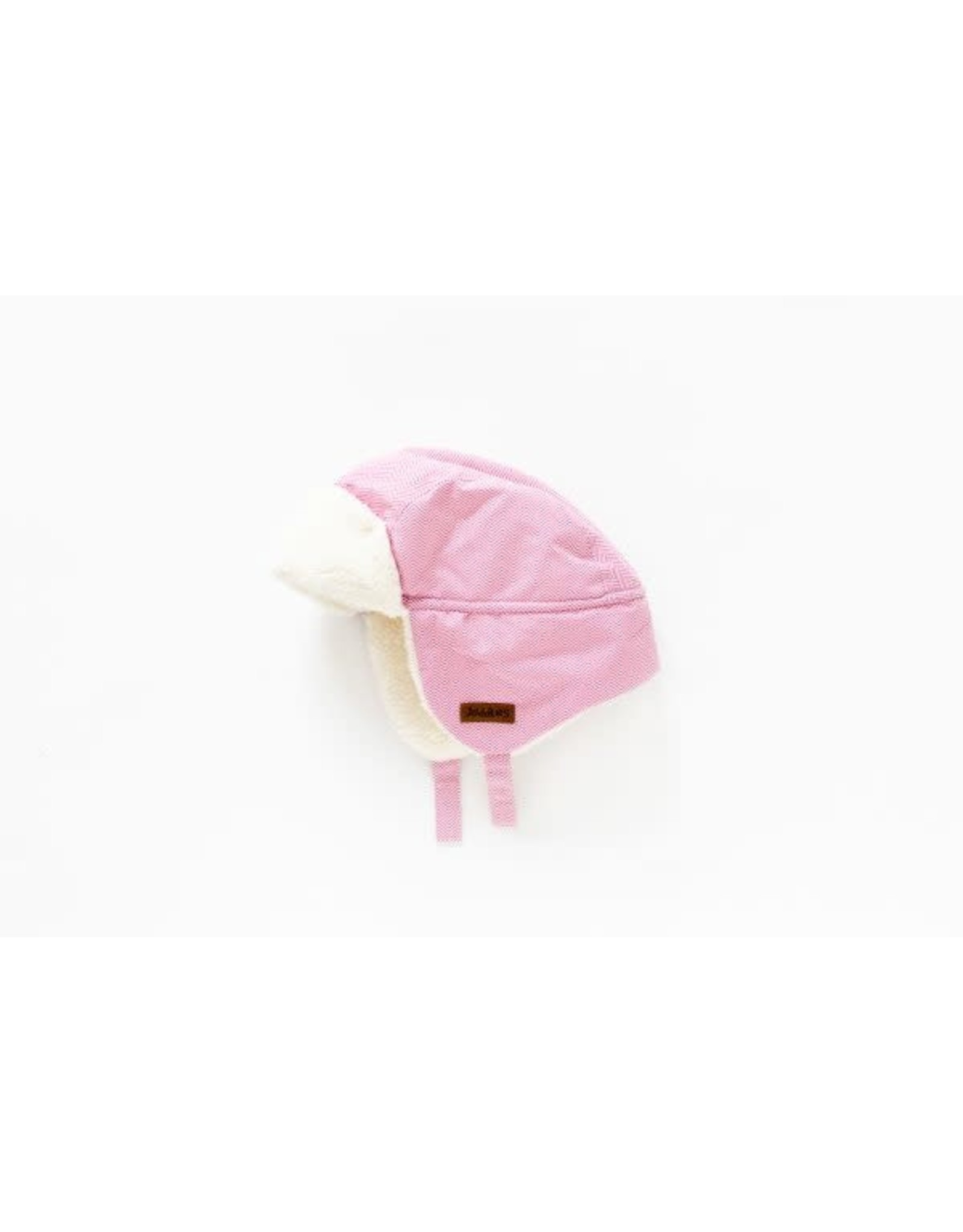 Juddlies Juddlies Winter Hat Herringbone Pink 6-12M
