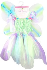 Great Pretenders Butterfly Dress with Wings & Wand, Multi, Size 5-6