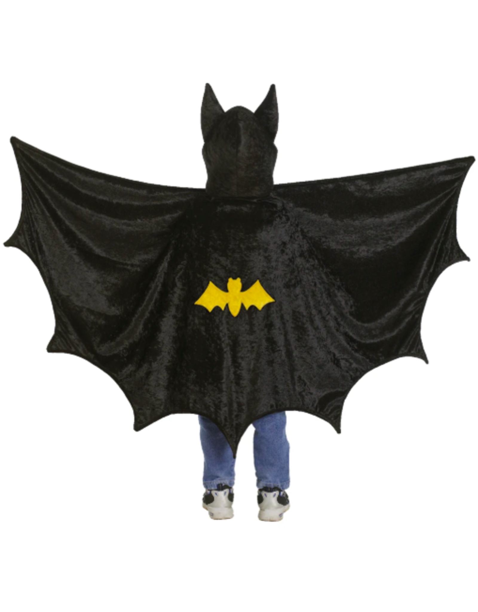 Great Pretenders Hooded Bat Cape, Black 5-6