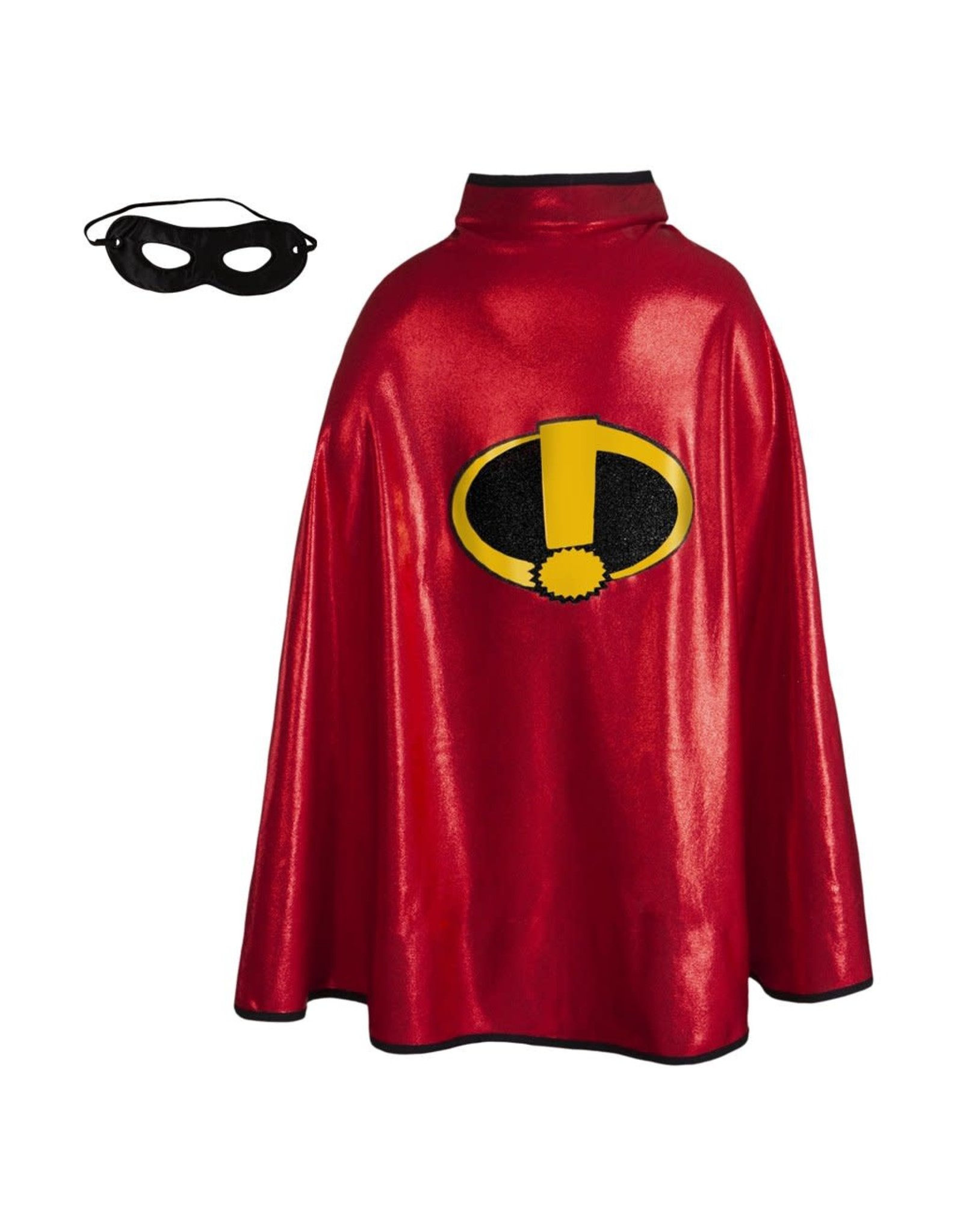 Great Pretenders Invincible Cape with Mask, Red/Black, 5-6