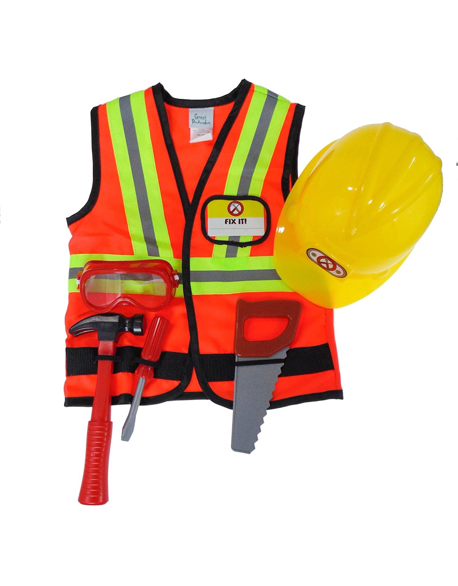 Great Pretenders Construction Worker with Accessories, 5-6