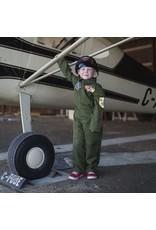 Great Pretenders Pilot Jumpsuit with Helmet, Green, 5-6