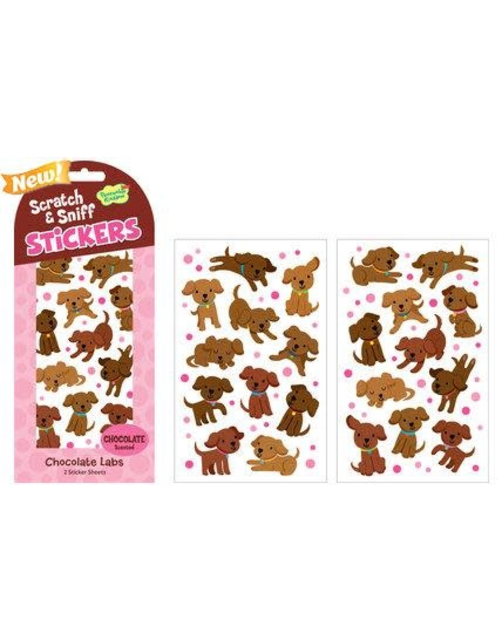 MindWare Chocolate Labs Scratch & Sniff Stickers
