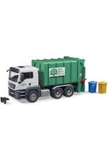 Bruder Toys America Inc MAN TGS Rear Loading Garbage green