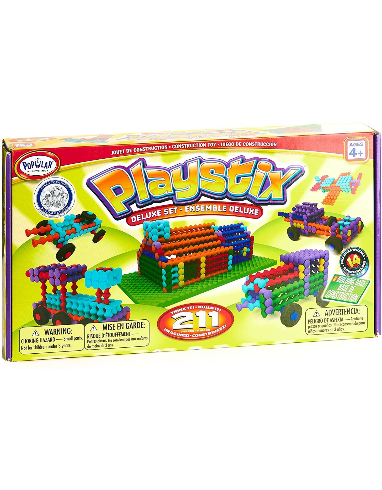 Popular Playthings Playstix Deluxe Set 211 Pcs.