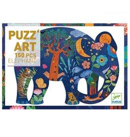 Djeco 150 pcs. Puzz'art, Elephant