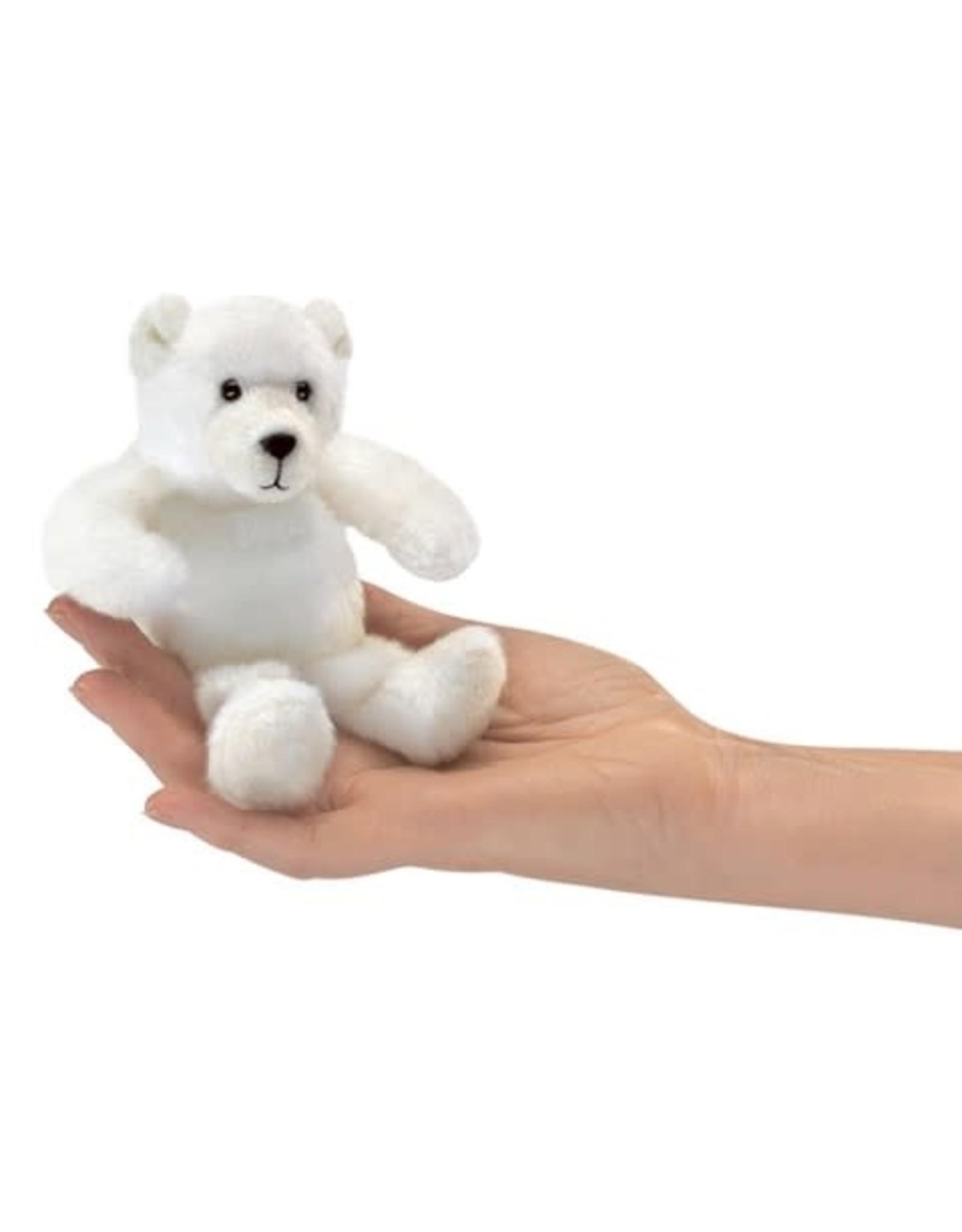 Folkmanis Mini Polar Bear Finger Puppet