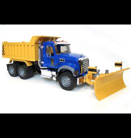 Bruder Toys America Inc MACK Granite Dump Truck with Snow Plow Blade