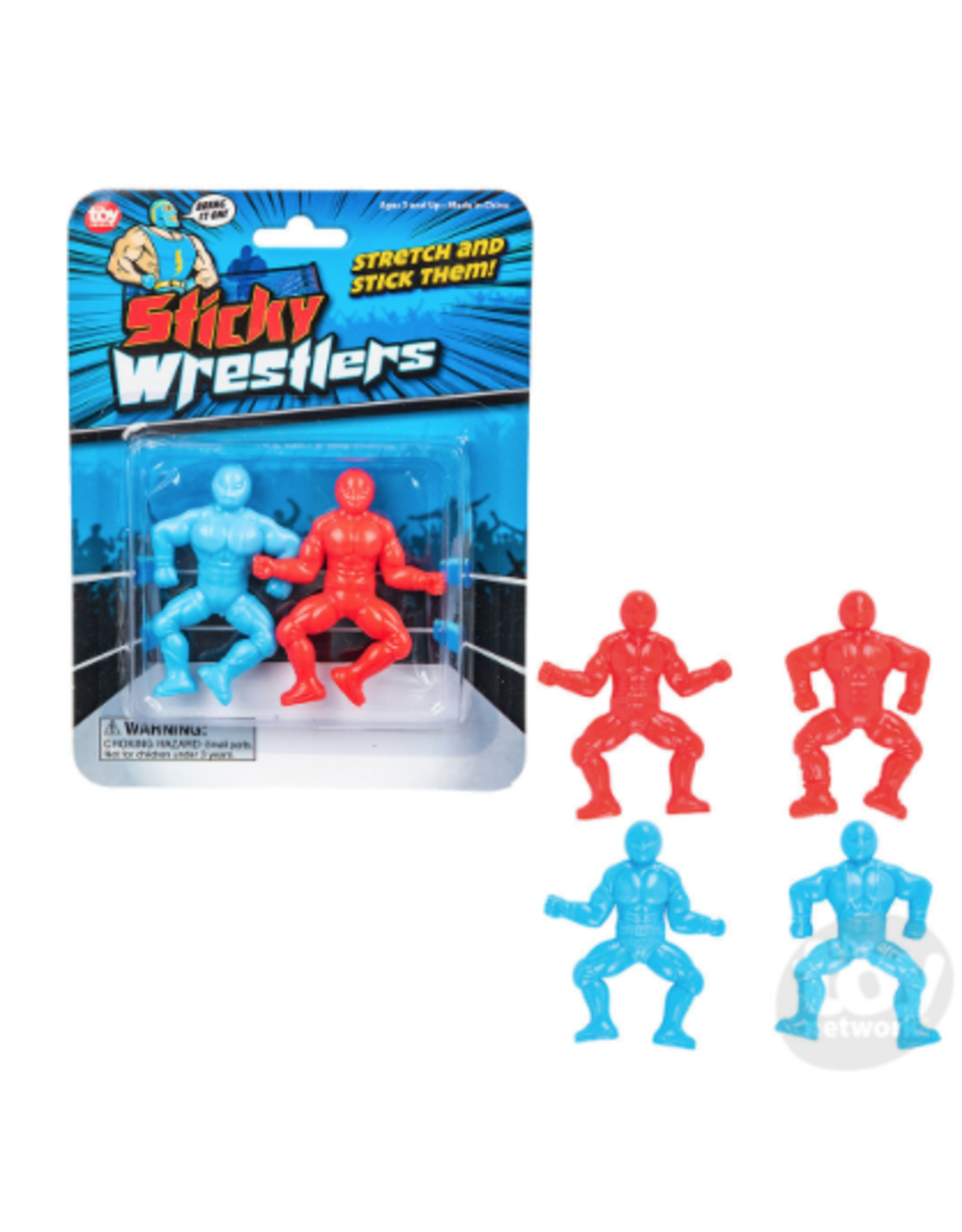 The Toy Network Sticky Wrestlers