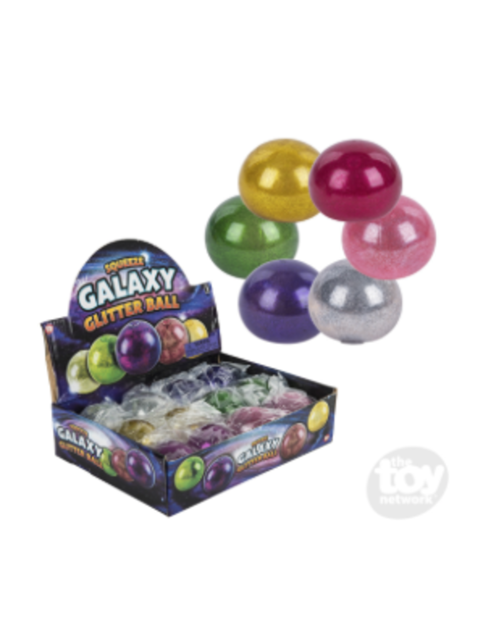 The Toy Network Squeeze Galaxy Glitter Ball