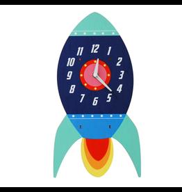 REX London Spaceship Wooden Wall Clock