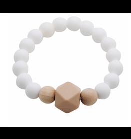 Glitter and Spice Bracelet Gemstone Porcelain White
