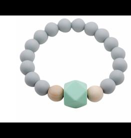 Glitter and Spice Bracelet Gemstone Feather Gray