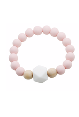 Glitter and Spice Chew Gemstone Bracelet, Ballerina Pink
