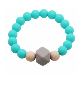 Glitter and Spice Chew Gemstone Bracelet, Caribbean Blue