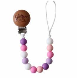 Glitter and Spice Pacifier Clip Esme
