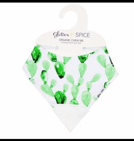 Glitter and Spice Chew Bib Cactus