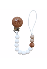 Glitter and Spice Pacifier Clip Coconut