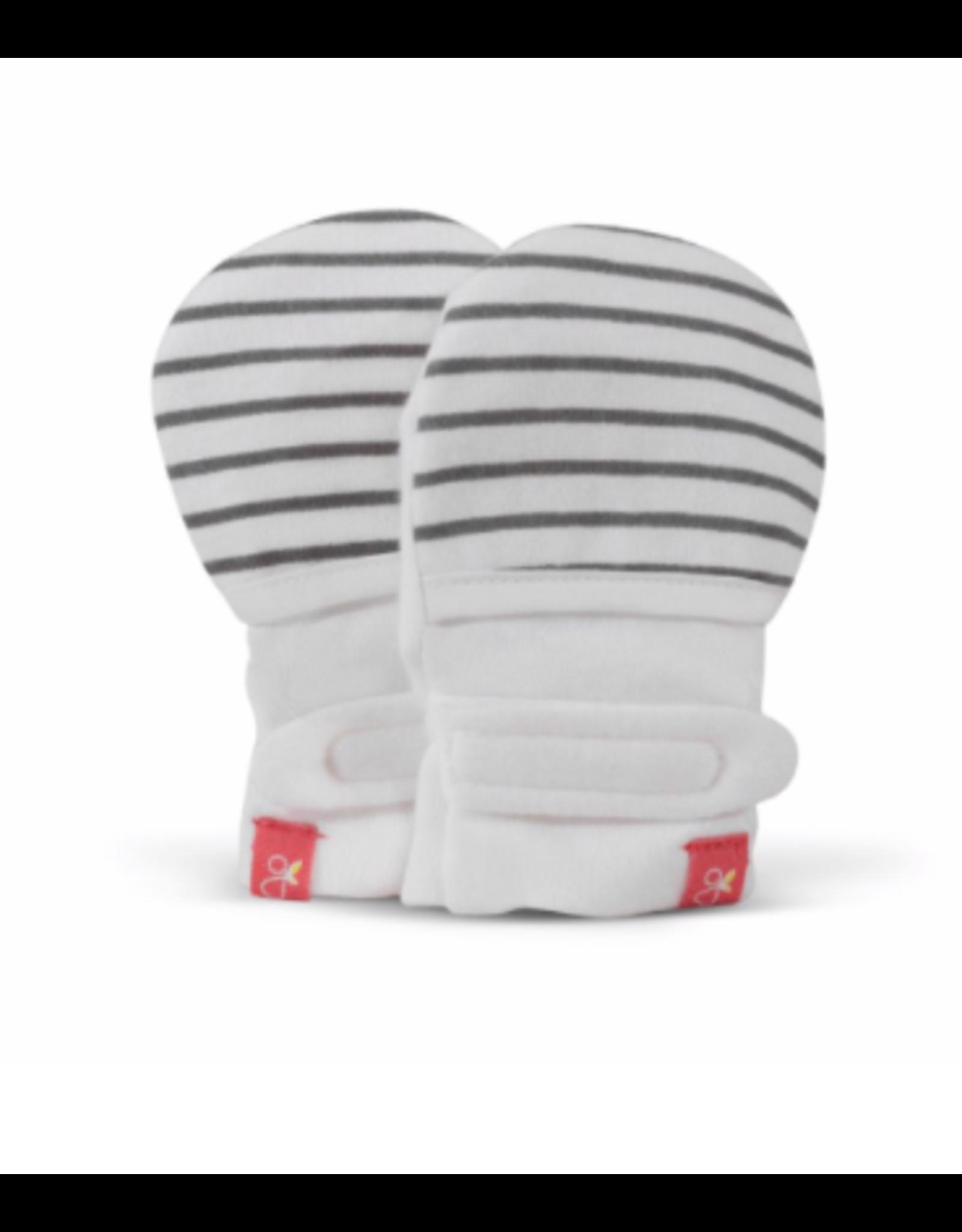 Goumi Goumimitts 0-3M, Stripe Grey