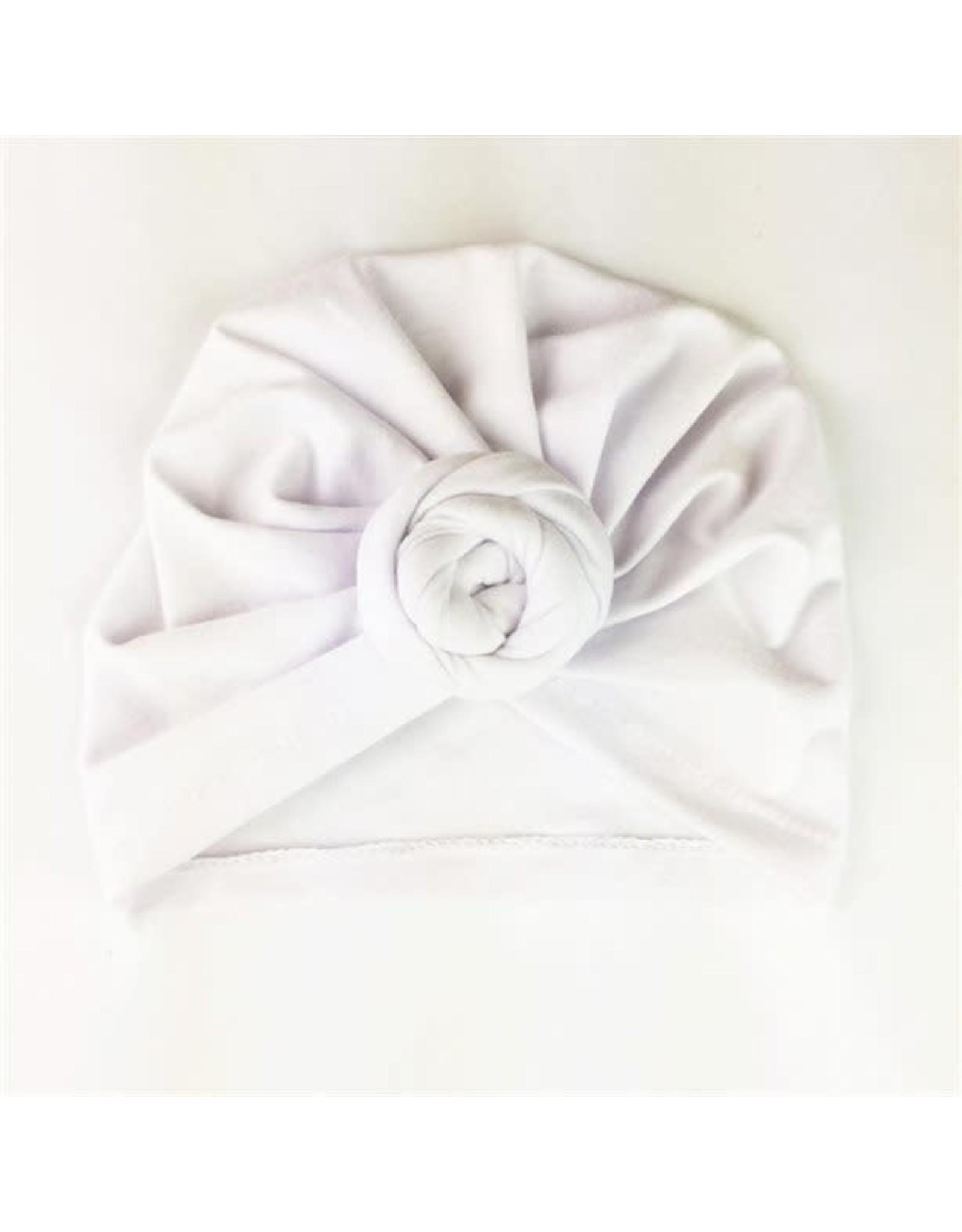 Baby Wisp Baby Wisp Turban Knot Hat, White