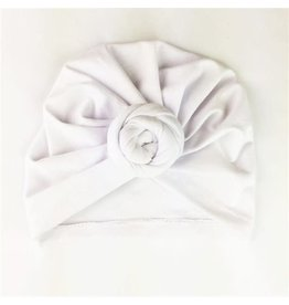 Baby Wisp Baby Wisp Turban Knot Hat, White