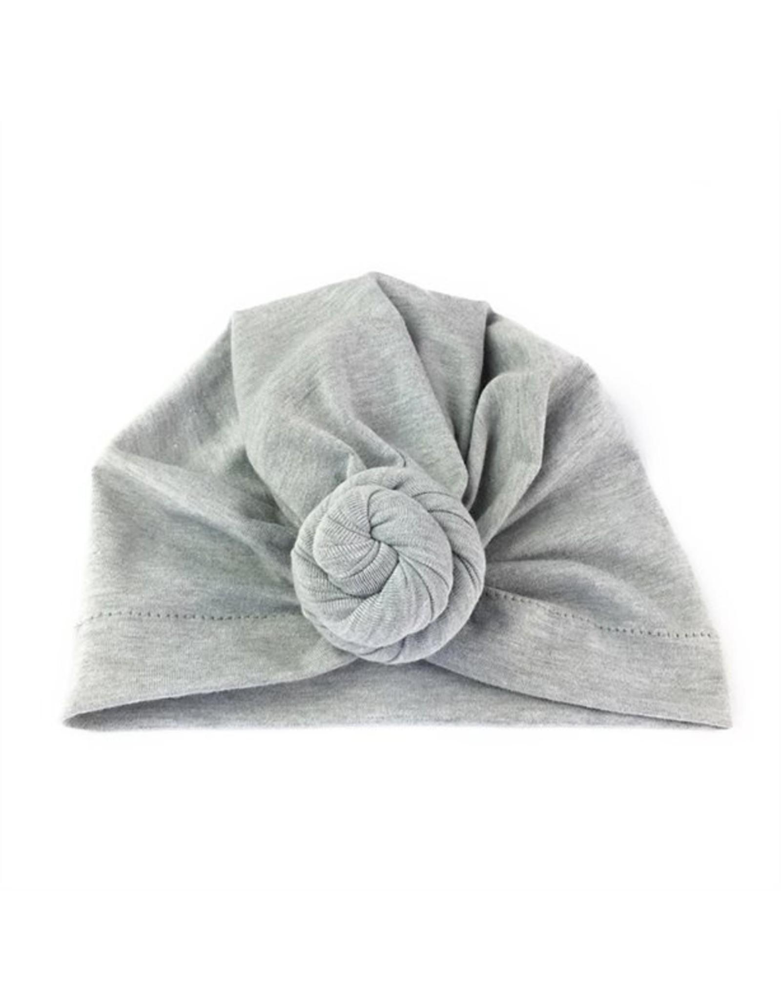 Baby Wisp Baby Wisp Turban Knot Hat, Grey