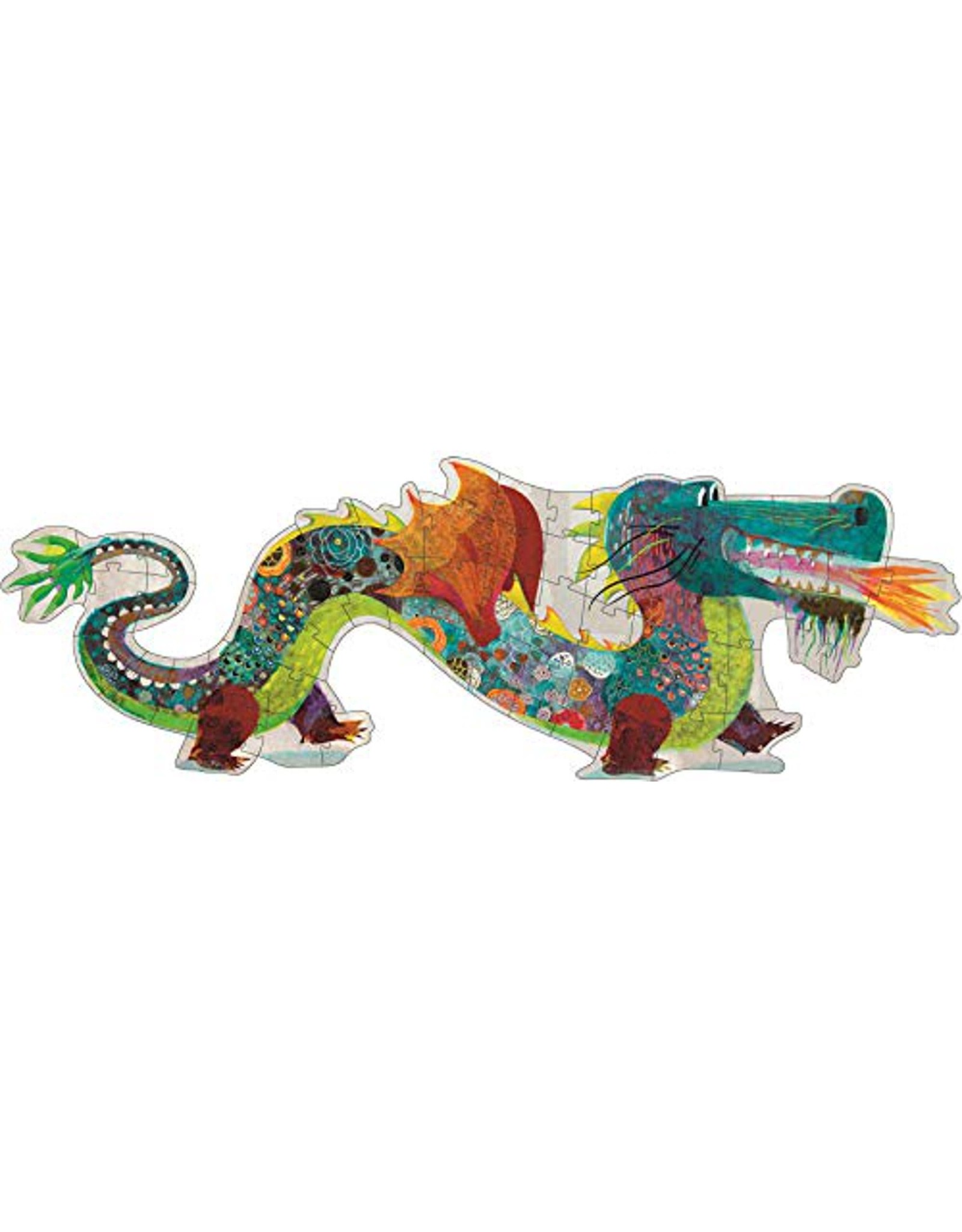 Djeco 58 pcs Leon the Dragon Giant Floor Puzzle