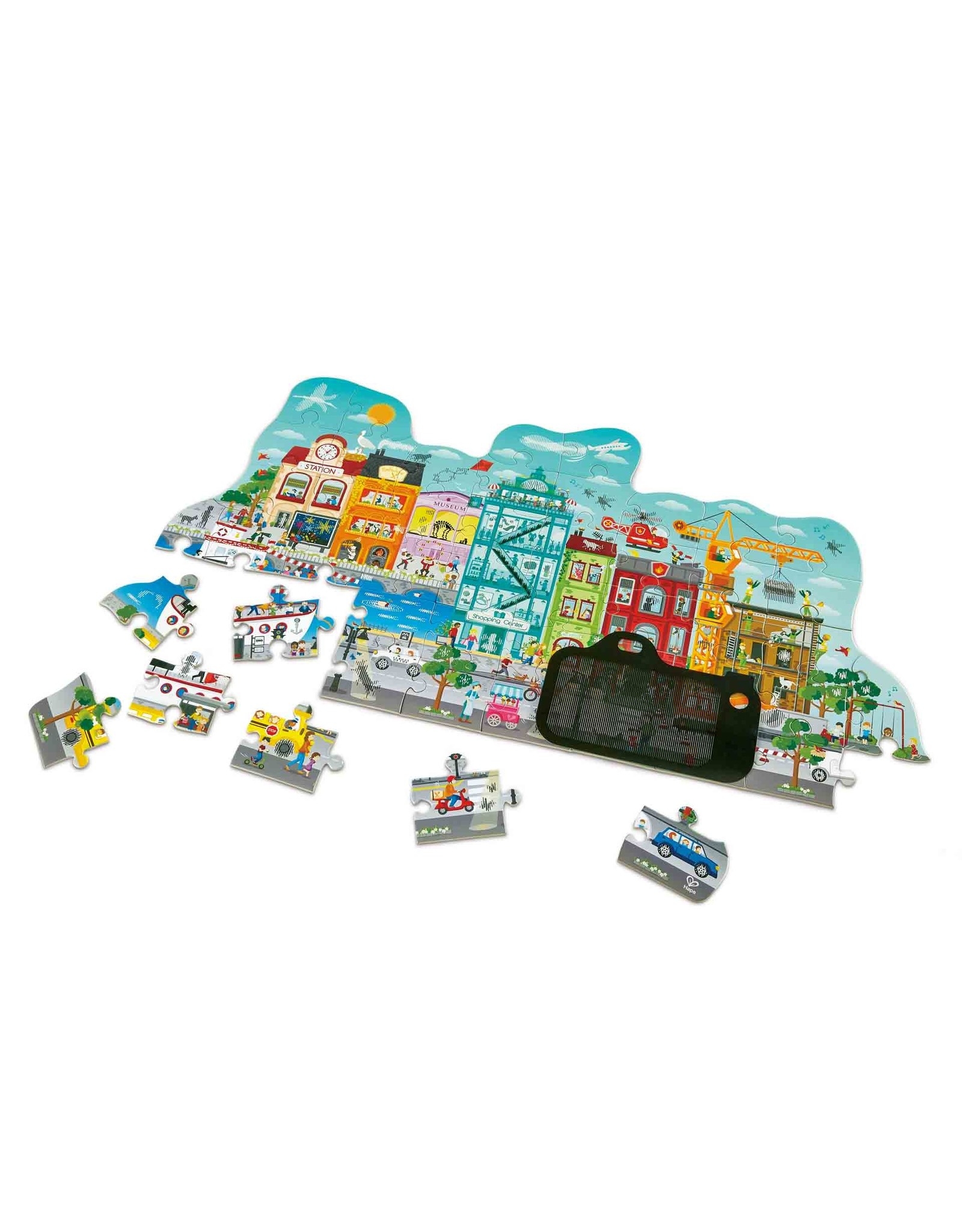 Hape 50 Pcs. Animated City Puzzle