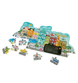 Hape 50 Pcs. Animated City Puzzle