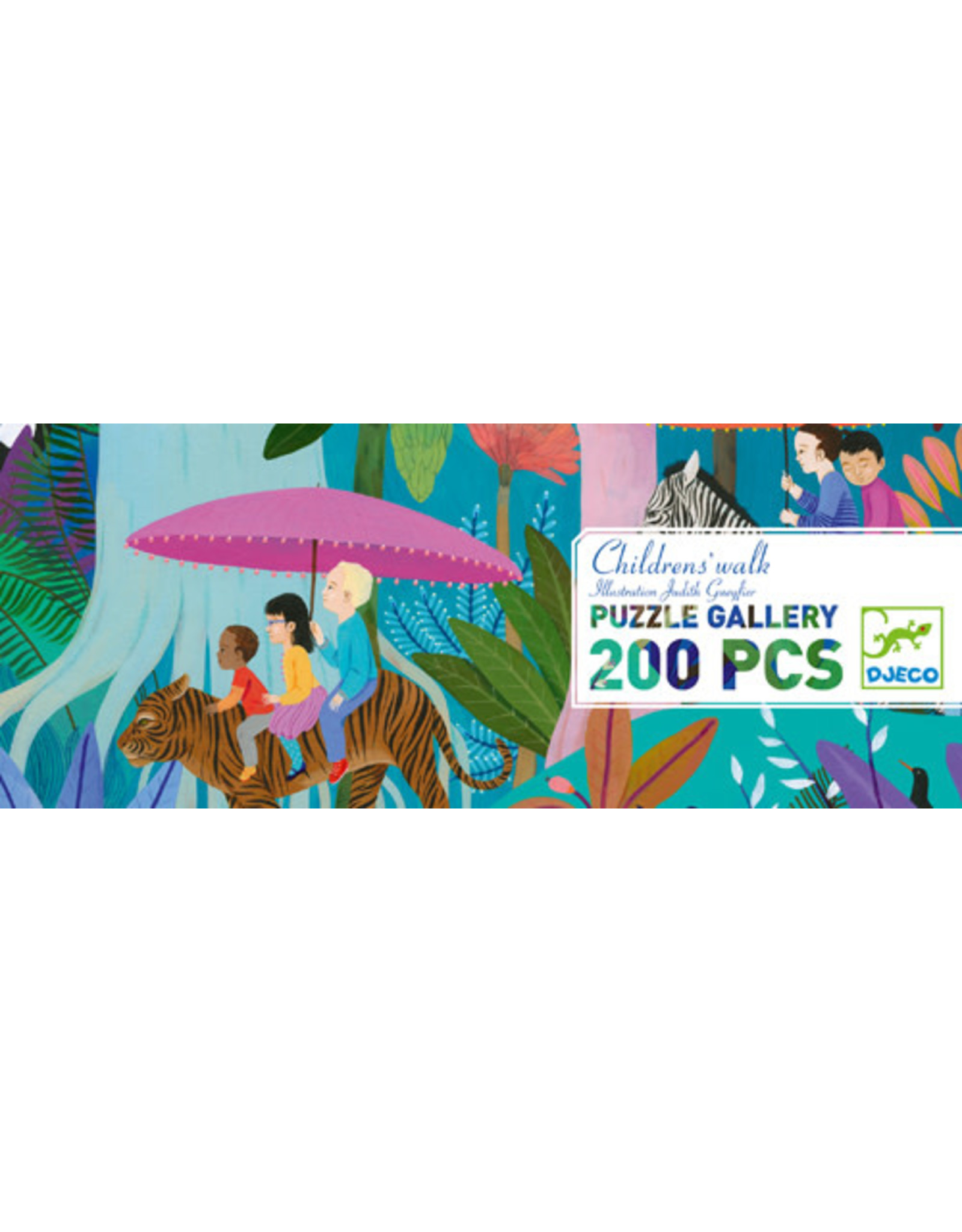 Djeco 200 pcs. Gallery Puzzle, Children's Walk