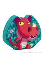 Djeco 24 pcs. Silhouette Puzzle, Edmond the Dragon