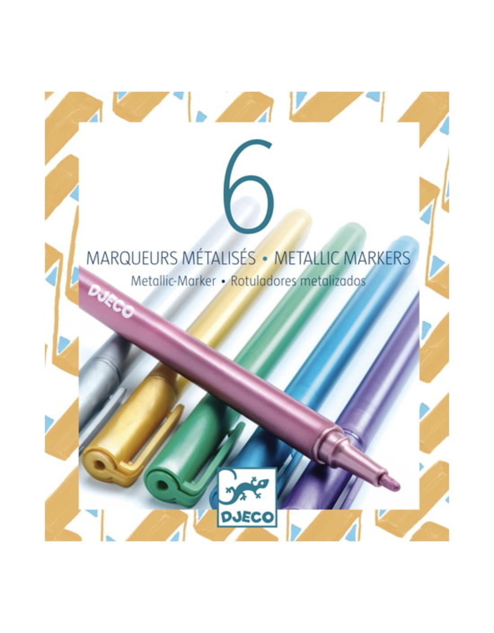 Djeco 6 Metallic Markers