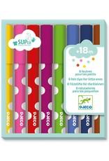 Djeco 8 Felt-Tip Markers for Little Ones