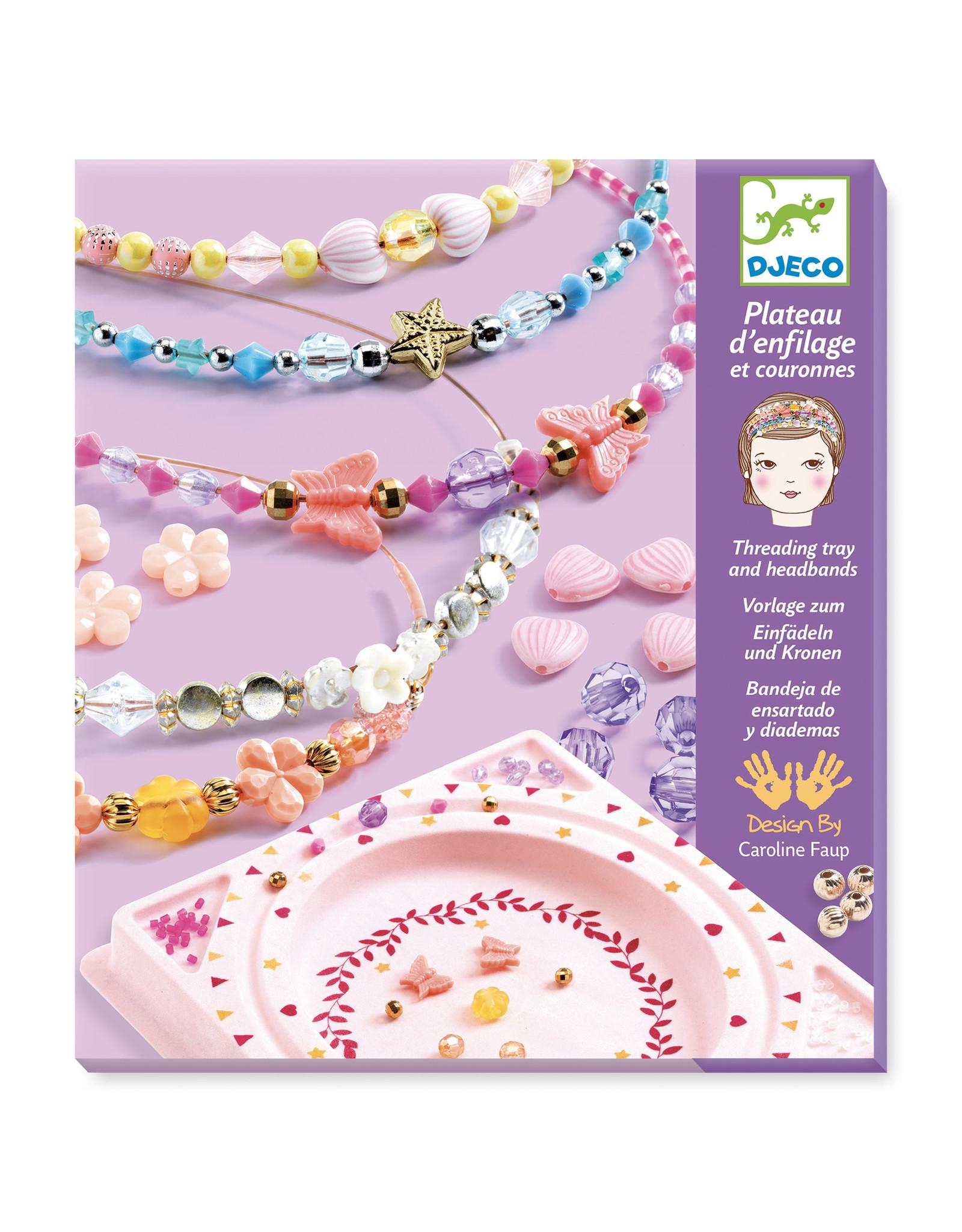Djeco Headband and Threathing Tray with Beads, Precious